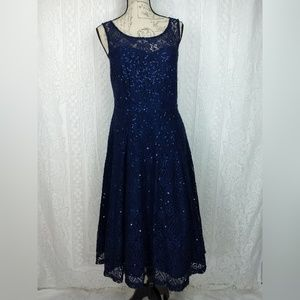 Torrid Navy Blue Lace Cocktail Dress Size 10